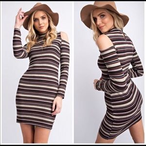 ♥️2♥️ stripped ribbed transitional dress